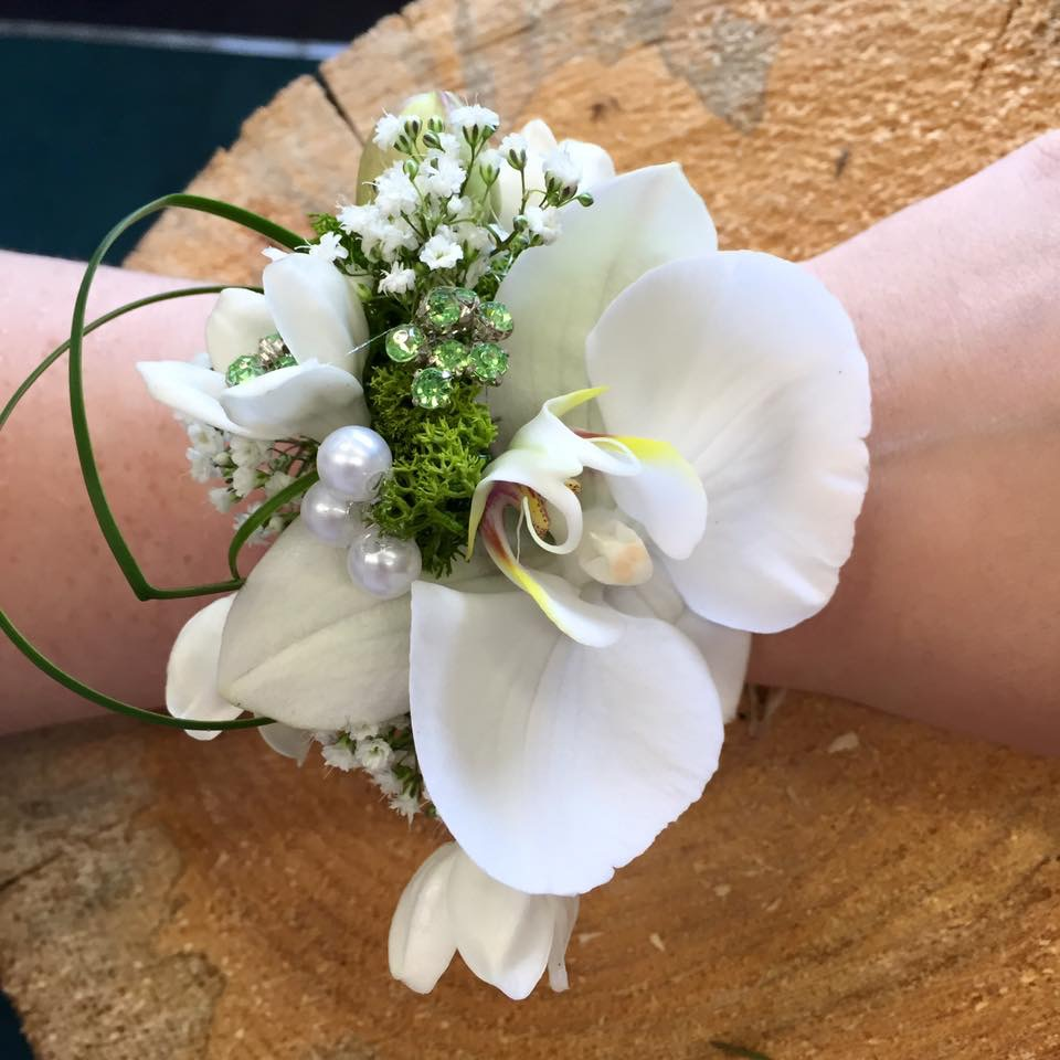 Wrist corsage by Floral Ambitions Edinburgh