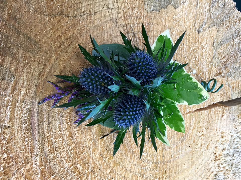 Thistle buttonhole by Floral Ambitions